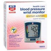 Rite Aid Blood Pressure Cuff Premium Automatic Monitor