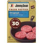 Jimmy Dean Premium All-Natural Pork Sausage Patties, 30 Count