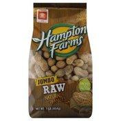 Hampton Farms Peanuts, Natural, Raw, Jumbo