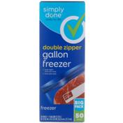 Simply Done Double Zipper Gallon Freezer Bags