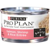 Purina Pro Plan Wet Cat Food, Salmon, Shrimp & Rice Entree in Sauce
