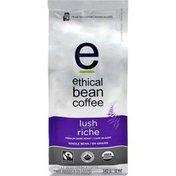 Ethical Bean Fairtrade Organic Coffee, Lush Medium Dark Roast, Whole Bean Coffee