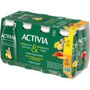 Activia Probiotic Dailies Lemon Ginger & Mango Turmeric Yogurt Drink, Variety Pack