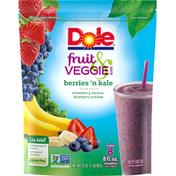 Dole Fruit & Veggie Blends Berries N Kale Smoothie Mix