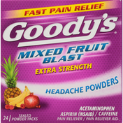 Goody Mixed Fruit Blast Extra Strength Headache Powders Pain Reliever/Pain Reliever Aid