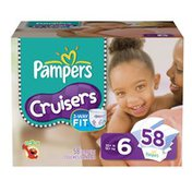 Pampers Cruisers Diapers Size 6 Super Pack 58 Count