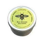 Big Dipper Wax Works Beeswax Aromatherapy Candle, Lemongrass + Grapefruit