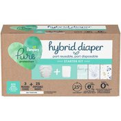 Pampers Hybrid Cloth Diaper Starter Kit - 3 Reusable Covers + 25