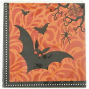 CR Gibson Napkins, Beverage, Spooky Night Bats, 2-Ply