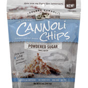 Golden Canoli Cannoli Chips, Powdered Sugar, Small Batch