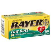 Bayer Pain Reliever, Low Dose, 81 mg, Enteric Coated Tablets