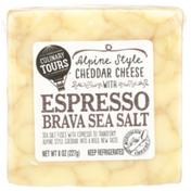 Culinary Tours Alpine Style Cheddar Cheese With Espresso Brava Sea Salt