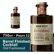 High West Distillery Old Fashioned Barrel Finished Ready Made Cocktail Whiskey