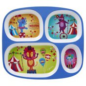 Citrus Grove Plate, Divided, 4-Section,