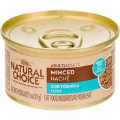 Nutro Natural Choice Minced Cod Formula Canned Adult Cat Food Case Of 24