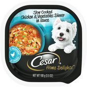 CESAR Slow Cooked Chicken & Vegetables Dinner in Sauce Canine Cuisine