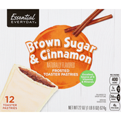 Essential Everyday Toaster Pastries, Brown Sugar & Cinnamon, Frosted
