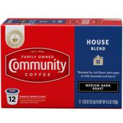 Community Coffee House Blend Medium Dark Roast Coffee Single Serve Cups