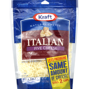 Kraft Shredded Cheese, Italian Five Cheese