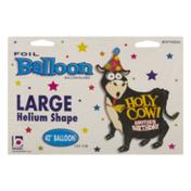 Betallic Large Helium Shape Balloon Holy Cow! Another Birthday