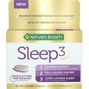 Nature's Bounty Sleep3, Tri-Layered Tablets