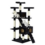 """Go Pet Club Classic Cat Tree Furniture With Sisal Scratching Posts - Brown or Black - 72"""""""