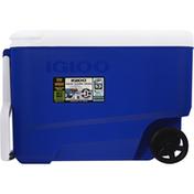 Igloo Cooler, Wheelie Cool, Blue, 38 Quart