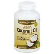 Nature's Reward Coconut Oil, Extra Virgin, 1000 mg, Quick Release Softgels