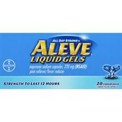 Aleve Pain Reliever/Fever Reducer, 220 mg, Liquid Gels