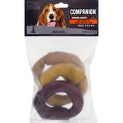 Companion Dog Chews, Beef, Chicken & Peanut Butter Flavor, Rawhide Donuts