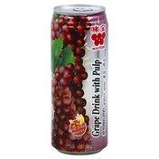 Wei Chuan Grape Drink, with Pulp