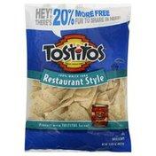 Tostitos Tortilla Chips, Restaurant Style, 100% White Corn