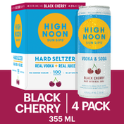 High Noon Black Cherry Vodka Hard Seltzer