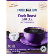 Food Lion Dark Roast Coffee Single Serve Cups