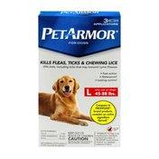 PetArmor Fleas, Ticks & Chewing Lice Control Applicators for Large Dogs (45-88 lb)