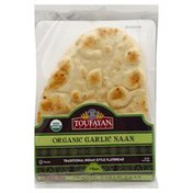 Toufayan Naan, Organic, Garlic