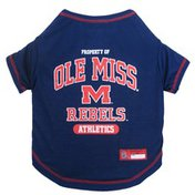 Pet First Small Ole Miss Rebels T Shirt