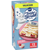 Pillsbury Toaster Strudel, Cream Cheese & Strawberry, Pastries, 12 Count