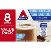Atkins Mocha Latte Protein-Rich Shake Value Pack