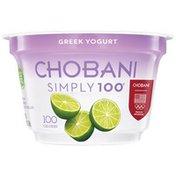 Chobani Simply 100 Key Lime Blended Non-Fat Greek Yogurt