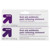 Up&Up First Aid Antibiotic Pain Relieving Ointment, Maximum Strength