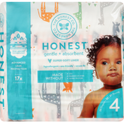 The Honest Company Diapers, Gentle + Absorbent, Multicolored Giraffes, 4 (22-37 Pounds)
