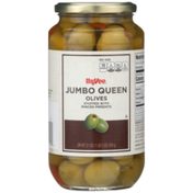 Hy-Vee Jumbo Queen Olives Stuffed With Minced Pimiento