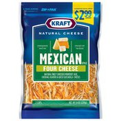 Kraft Mexican Style Four Cheese Pre-Priced $2.99 Shredded Cheese