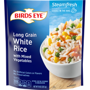 Birds Eye White Rice, Long Grain, with Mixed Vegetables