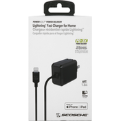 Scosche Fast Charger for Home, Lightning, Power Delivery, 6 Feet