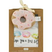 Mud Pie Crawler & Rattle Set, Donut, 0-6 Months