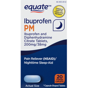 Equate Ibuprofen PM, Coated Caplets