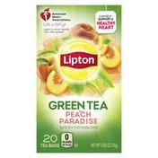 Lipton Green Tea Bags Peach Paradise