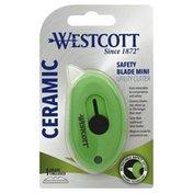 Westcott Utility Cutter, Ceramic, Safety Blade, Mini